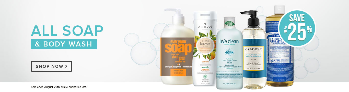 Save on Soap, and Body Wash