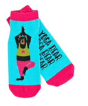 Little Blue House Women's Ankle Socks Yoga Bear