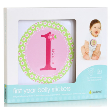 Pearhead First Years Milestones Sticker Girl