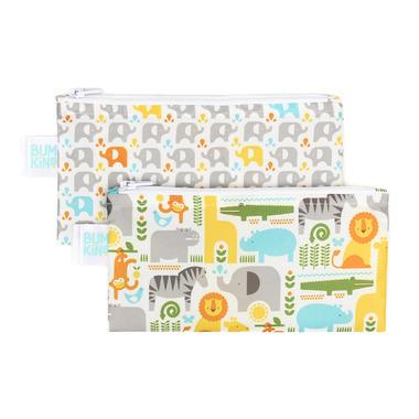 Bumkins Reusable Snack Bag Small Safari and Elephant