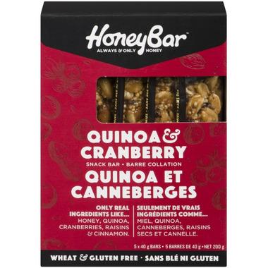 HoneyBar Quinoa & Cranberry Snack Bar