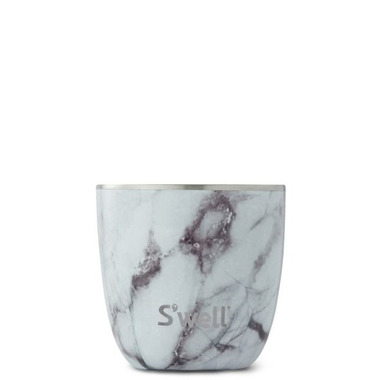 S\'well Tumbler Stainless Steel Insulated Cup White Marble