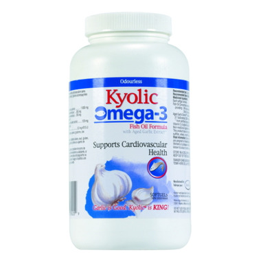 Kyolic Omega 3 EPA Fish Oil & Aged Garlic Supplement