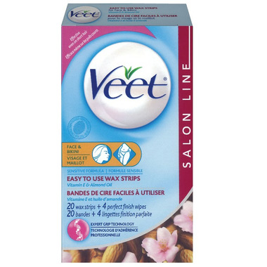 Veet Ready to Use Wax Strips for Face and Bikini