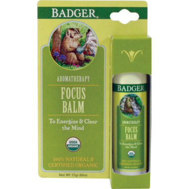 Badger Aromatherapy Focus Balm Stick