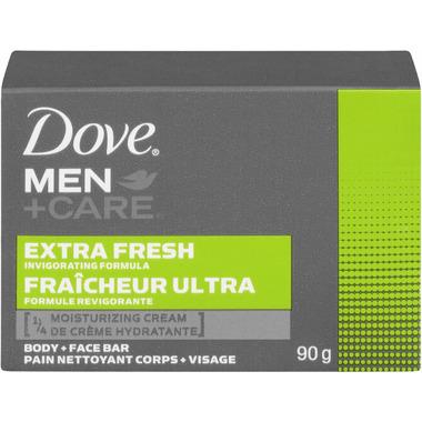 Dove Men + Care Extra Fresh Invigorating Formula Body & Face Bar 90g