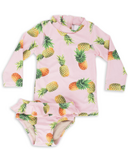 Shade Critters Rashguard Set Pink Pineapple