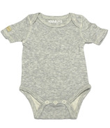 Juddlies Short Sleeve Bodysuit Pale Grey Fleck