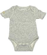 Juddlies Short Sleeve Bodysuit Pale Grey Fleck