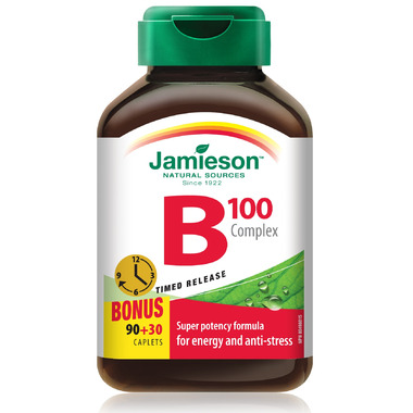 Jamieson Vitamin B 100 Complex Time Release Caplets