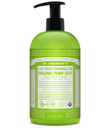 Dr. Bronner's 4-in-1 Sugar Lemongrass Lime Organic Pump Soap