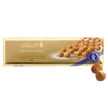 Lindt Swiss Classic Gold Milk Chocolate with Hazelnuts