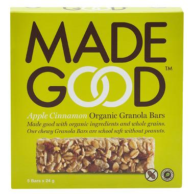 MadeGood Apple Cinnamon Organic Granola Bars