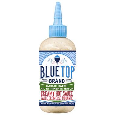 Blue Top Brand Garlic Hatch Hot Sauce