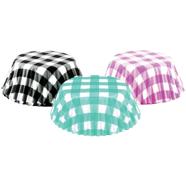 Multi-Colour Gingham Standard Bake Cups Set