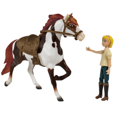 Breyer Horses Spirit Riding Free Boomerang and Abigail Small Set