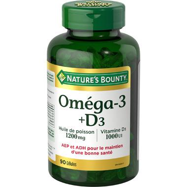 Nature\'s Bounty Omega 3 Fish Oil plus Vitamin D
