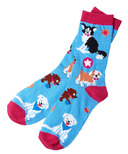 Hatley Women's Crew Socks Cute Pups