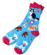 Little Blue House Women's Crew Socks Cute Pups
