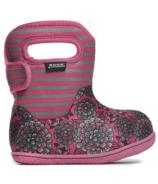 Bogs Baby Waterproof Boots Pansy Stripe