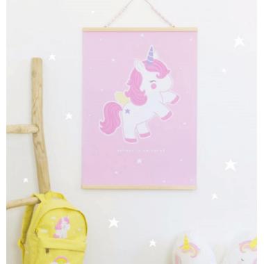 A Little Lovely Company Unicorn Poster