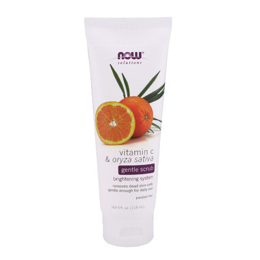 NOW Solutions Vitamin C & Oryza Sativa Gentle Scrub