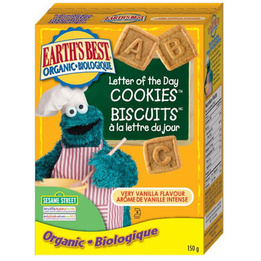 Earth\'s Best Organic Very Vanilla Letter of the Day Cookies