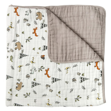 Little Unicorn Cotton Muslin Quilt Forest Friends