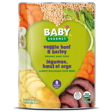 Baby Gourmet Vegetable, Beef & Barley