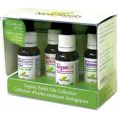New Roots Herbal Certified Organic Exotic Oils Gift Pack