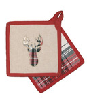 Domay Tartan Plaid Deer Pot Holder Set