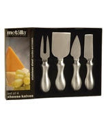 Prodyne Set of 4 Soft Grip Handle Cheese Knives