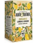 Heath & Heather Organic Lemon & Ginger Tea