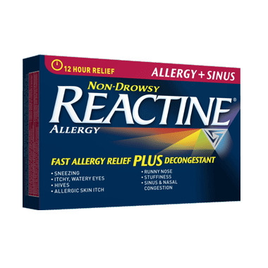 Reactine Allergy + Sinus 12 Hour