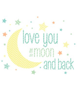 WallPops I Love You To The Moon And Back Wall Wish