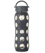 Lifefactory Onyx Freestyle Glass Bottle with Classic Cap & Silicone Sleeve