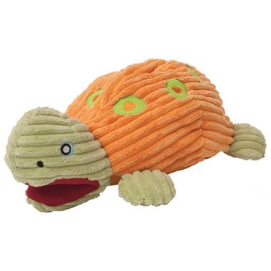 Hugglehounds Big Kurt The Interactive Turtle Squeak Toy for Dogs