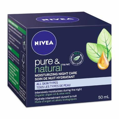 Nivea Pure & Natural Moisturizing Night Care