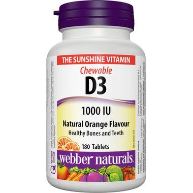 Webber Naturals Chewable Vitamin D3