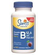 Swiss Natural Vitamin B12, B6 & Folic Acid BONUS