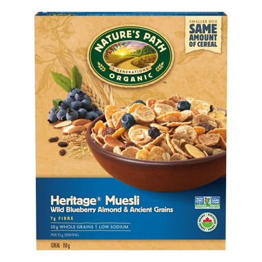 Nature\'s Path Blueberry Muesli Cereal with Almond