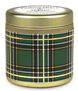 Paddywax Tartan Gold Tin Pomegranate & Spruce Candle