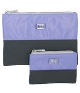 Lug Zipline Storage Pouches Lavender & Grey