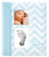 Pearhead Babybook Chevron Blue