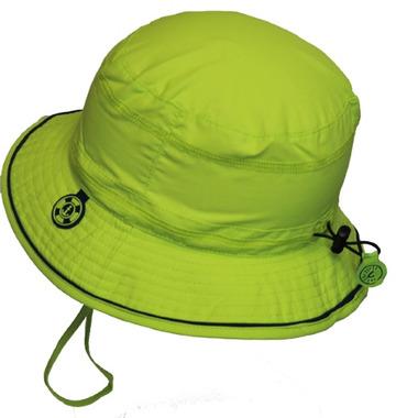 Calikids Quick-Dry Bucket Hat Extra Wide Brim Green Glow