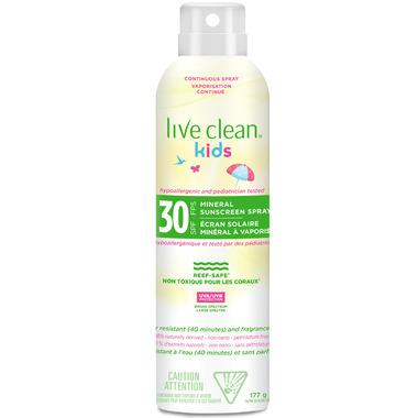 Live Clean Kids Mineral Sunscreen Spray SPF 30