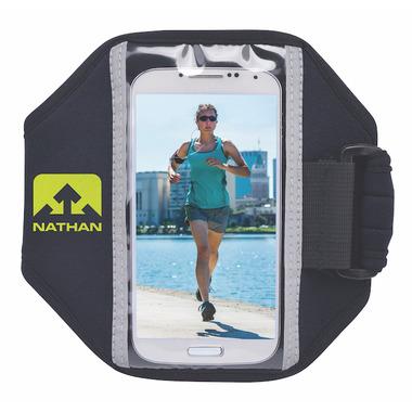 Nathan Sports Super 5K Smartphone Armband Black/Sulfur Spring