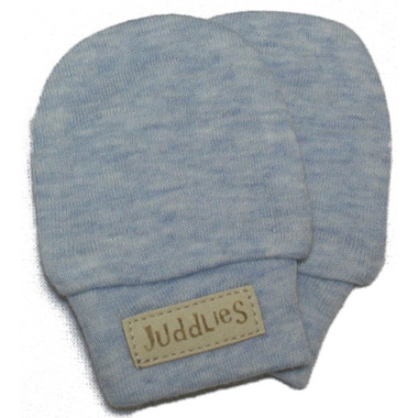 Juddlies Scratch Mitts Blue Fleck