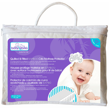 Baby Works Quilted & Filted Bamboo Mattress Protector