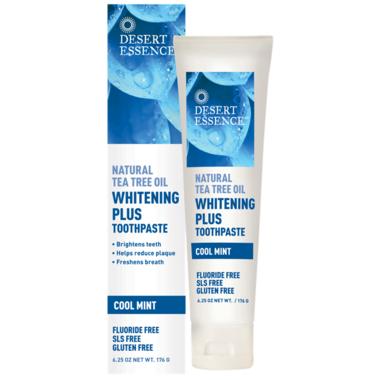 Desert Essence Whitening Plus Toothpaste with Tea Tree Oil